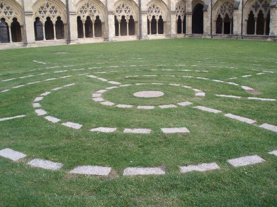 Norwich Cathedral: The Labyrinth in the Cloisters