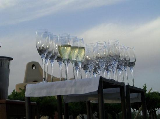 Cavas Wine Lodge : Sparkling Wines Glases in the concert