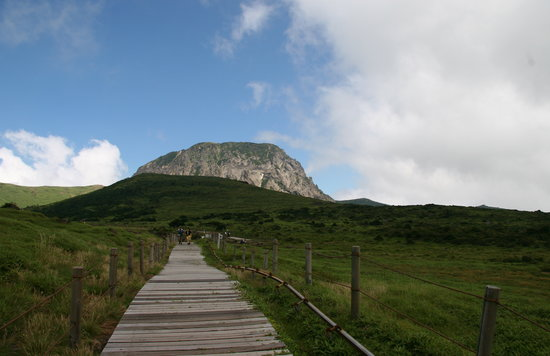 Jeju, South Korea: the climb