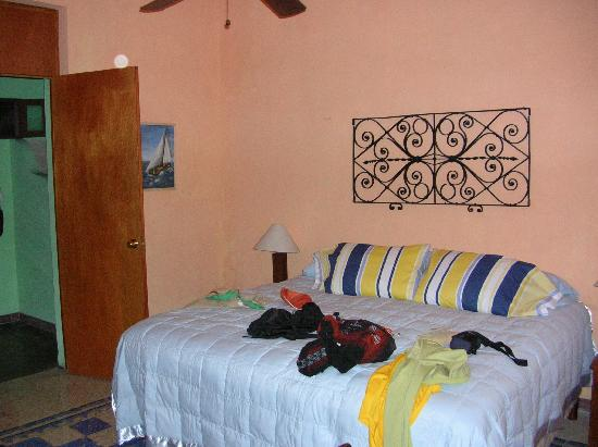 Casa Santiago: Our room...only messy due to us!