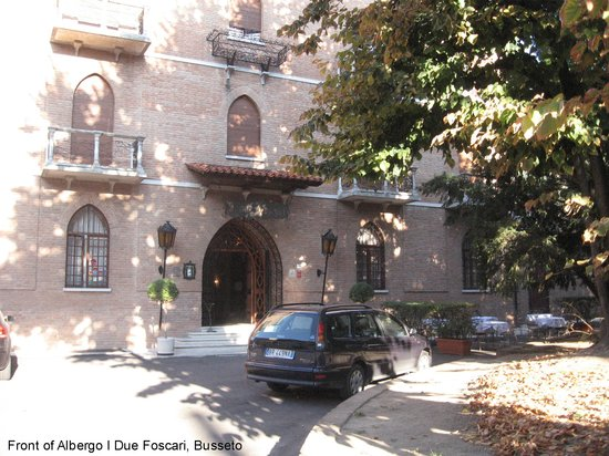 Busseto, Italia: Entrance to Albergo I Due Foscari