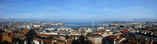 Genève, Sveits: View from the cathedral tower