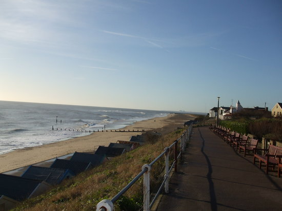 Southwold, UK: The beach on 2nd Feb 08