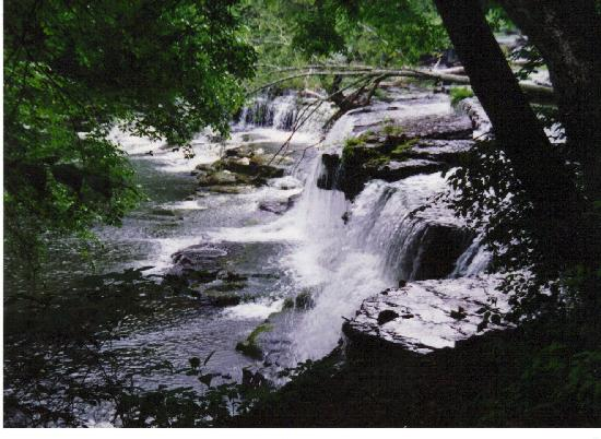 Waterfall at the park.