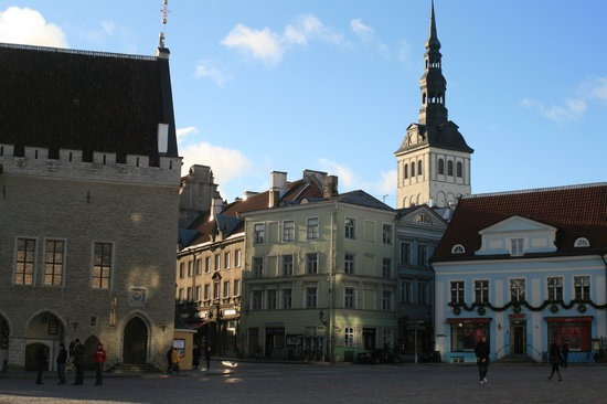 Tallin, Estland: The Town Hall Square
