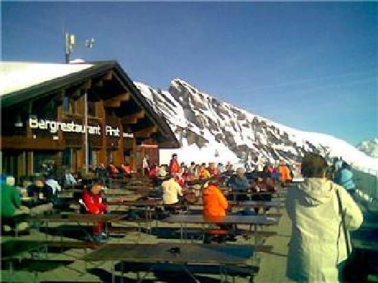 Hotel Gletschergarten: View from top of First ... Grindelwald