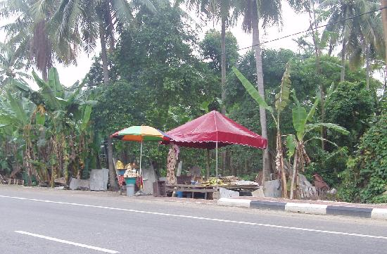 Kota Bharu, Malaysia: Fresh boiled corn on the cob on sale along the beach to PCB