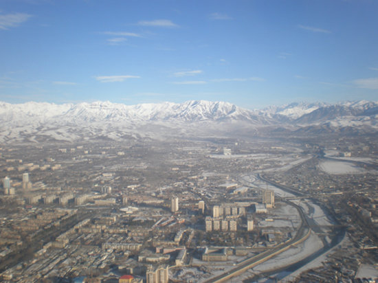 View of Dushanbe from the air