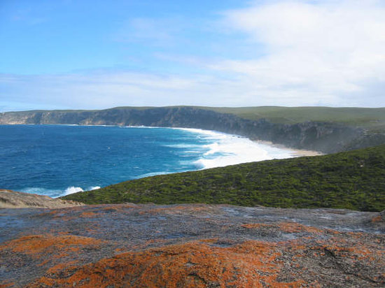 Isla Canguro, Australia: view from remarkable rocks
