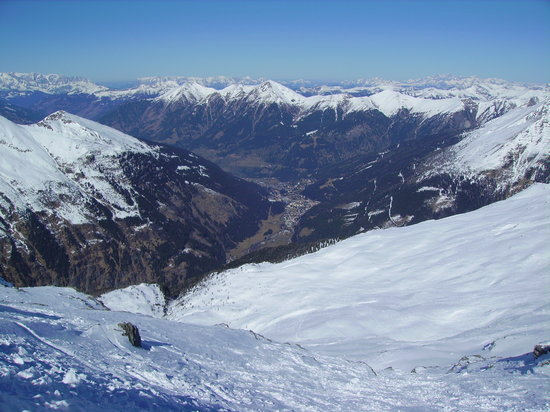 Bad Gastein, Austria: Gastein valley from Sportgastein
