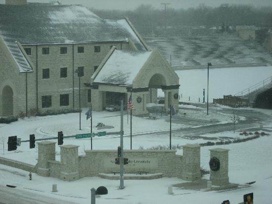 Manhattan, KS: View from room.