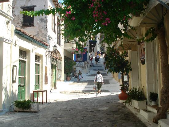 Saronic Gulf Islands, Greece: The alleys of Poros have so much character.