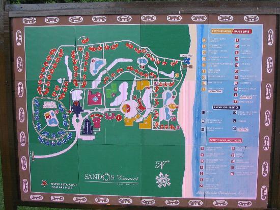 Sandos Caracol Eco Resort Map resort map   Picture of Sandos Caracol Eco Resort, Playa del  Sandos Caracol Eco Resort Map
