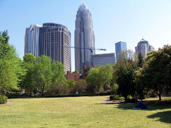 Charlotte, NC: View from 4th Ward park.