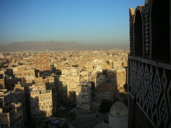 Sanaa, Jemen: one of the views from the rooftop