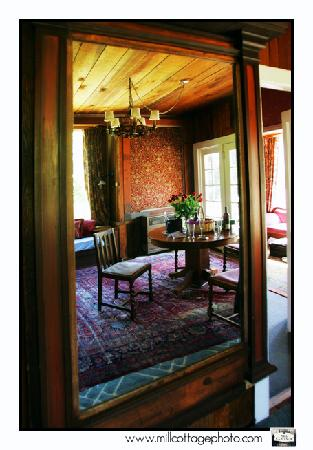 The Jenner Inn: living room at the Mill Cottage, 2004