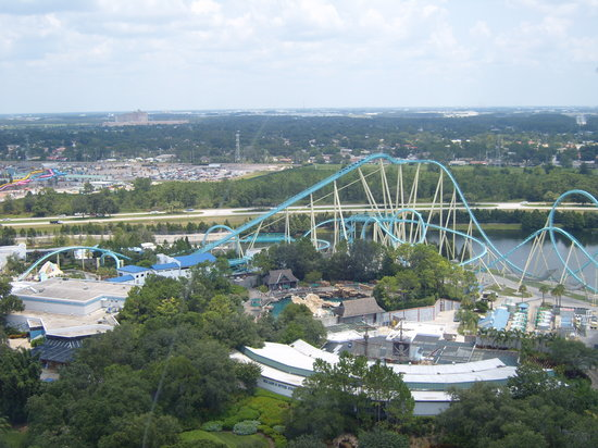 Orlando, FL: The view from the top of the tower at Sea World