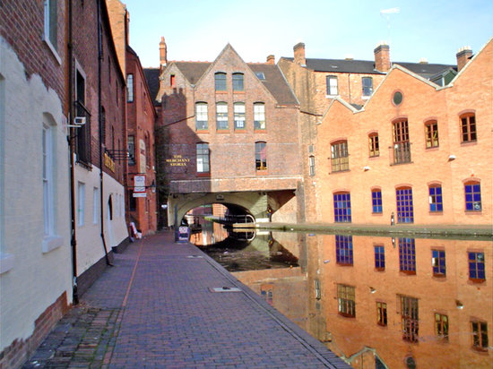 Бирмингем, UK: canales en Birmingham