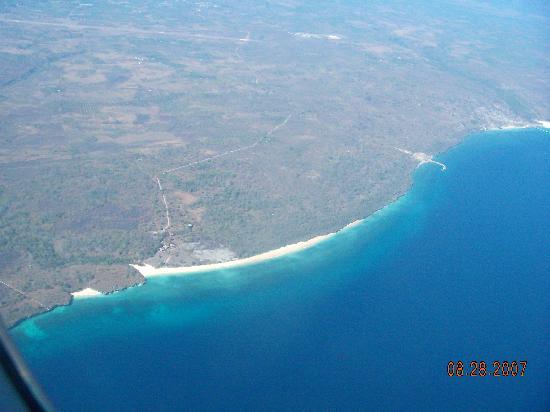 Newa Sumba Resort: Strip of white beach is where NSR is