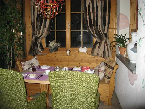 Hotel Berghof Zermatt: Our table for 12 nights