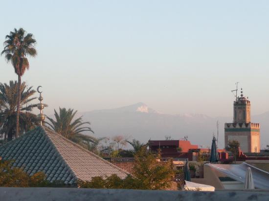 Riad Mabrouka Marrakech: vue de la terrasse