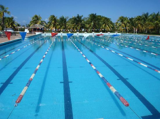 Laguna Mar: Olympic pool – A swimming team from Finland was in training.