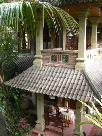 Ketut's Place: the view from our verandah (pool to the left)
