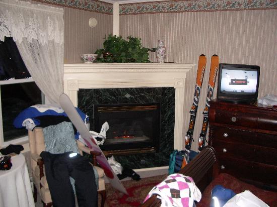 Eastman Inn : fireplace inside our room