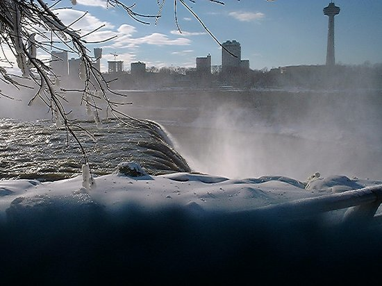 Niagarafallene, Canada: A very cold New Year's Day