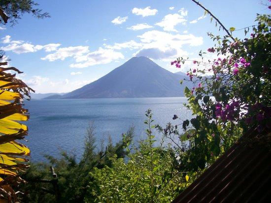 Jaibalito, Guatemala: vista dalla finestra della camera