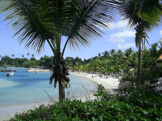 Crown Point, Tobago: beach and lagoon