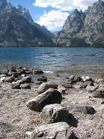 Grand Teton National Park, WY: Jenny Lake, Tetons.