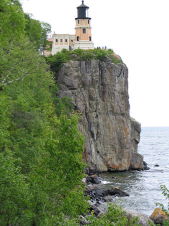 Split Rock Lighthouse: View from the lake path.