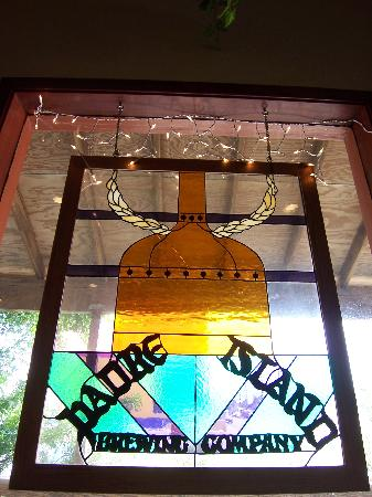 Padre Island Brewing Co. : stained glass sign