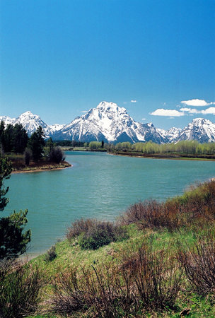 Grand Teton National Park, ไวโอมิง: Spring at Oxbow Bend