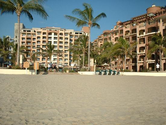 Villa La Estancia: View from the beach to VLE