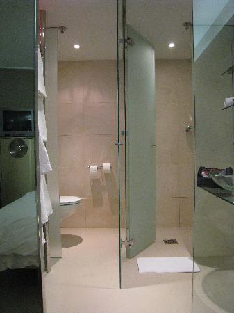 Glass Bathroom With Toilet Shower Doors Open Picture Of