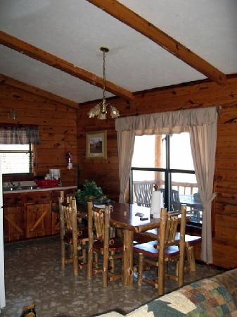 Lake Shore Cabins on Beaver Lake: kitchen cabin 6