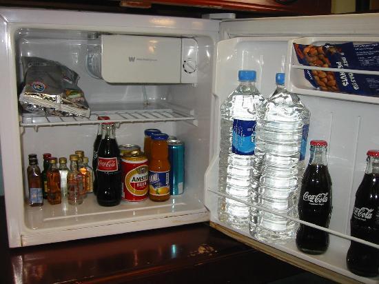 Rama Hotel: well stocked fridge...