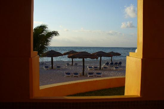 The Royal Haciendas All Suites Resort & Spa: This was our view from our oceanside room-taken from inside the hottub