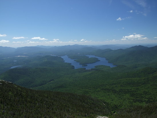 Wilmington, NY: Top of Whiteface Mtn. overlooking Mirror Lake (Placid)