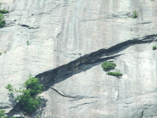 Ledge Rock at Whiteface: Rock climber