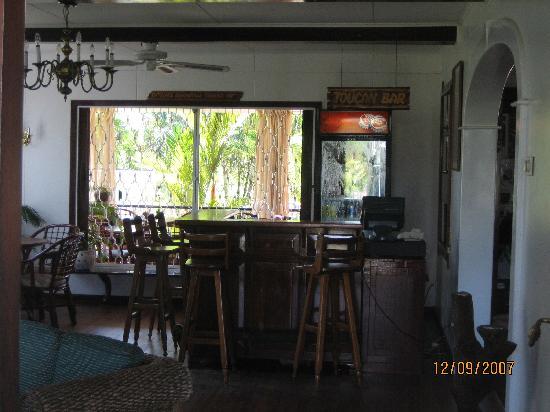 Toucan Bar, Front Lobby, Eco Resort Inn, Paramaribo, Suriname. December 2007.