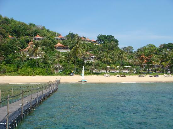 Trisara Phuket: Shot of Trisara from the jetty
