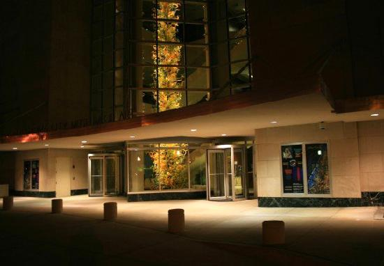 Oklahoma City Museum of Art: the outside at night