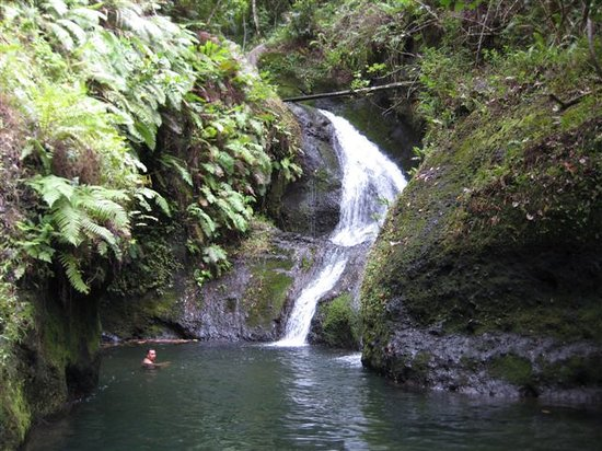 Titikaveka, Cook Islands: Waterfall