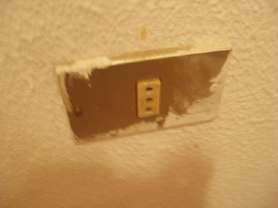 Monterrey Apartments: Paint on wall sockets