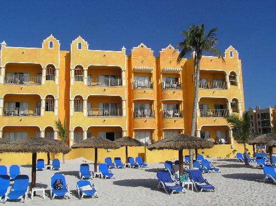 The Royal Haciendas, All Inclusive, All Suites Resort: View of A Building from Beach