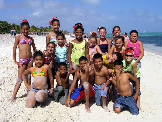 Brisas Santa Lucia Cuban Kids On The Beach