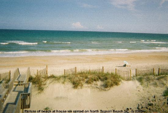 Topsail Island: view from house, north topsail beach